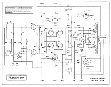 Audio Research Classic 30 schematic circuit diagram download
