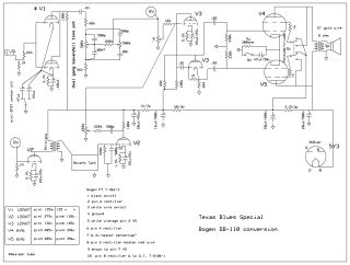 Bogen DB 110 schematic circuit diagram download