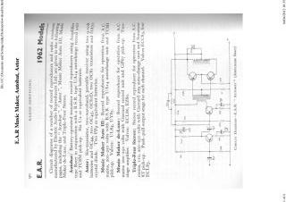EAR Music Maker schematic circuit diagram download