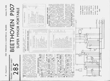 Beethoven P107 schematic circuit diagram download
